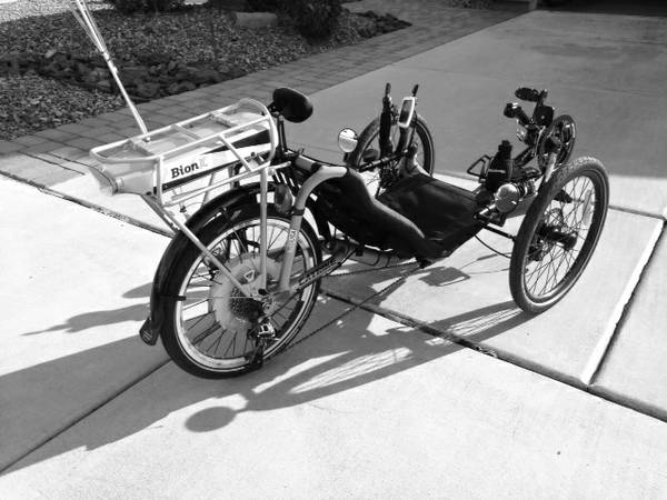 Cattrike Recumbent / Bionx Electric Bicycle